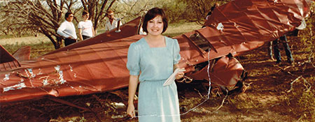 Minerva Perez At San Antonio Plane Crash Circa 1983